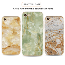 2017 Hot Rubber Silicone Skin Cover For Apple iPhone 7 Plus, For iPhone 7 Plus Marble Design Flexible TPU Case