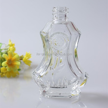 25ml cusomized empty small perfume glass bottle with pattern