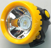 Helmet attached cordless LED mining caplamp ATEX certified two lighting modes optional,rechargeable battery