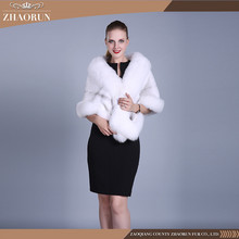 100% real import denmark mink fur shawl , white mink fur poncho for lady