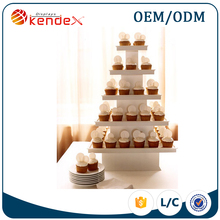 reliable and cheap 5 tier square acrylic cake and wedding cupcake stand