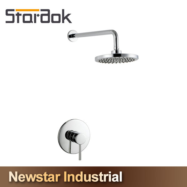 Star.aok New Chrome Solid Brass Modern Free Floor Standing Waterfall Bathtub Shower Faucet