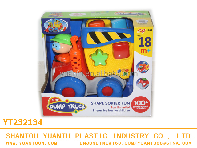 Plastic funny battery operated toys B/O toys Electronic kartoon block cars for kid!