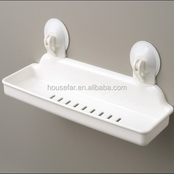 plastic wall-mounted adhesive bathroom shelf shower corner shelf