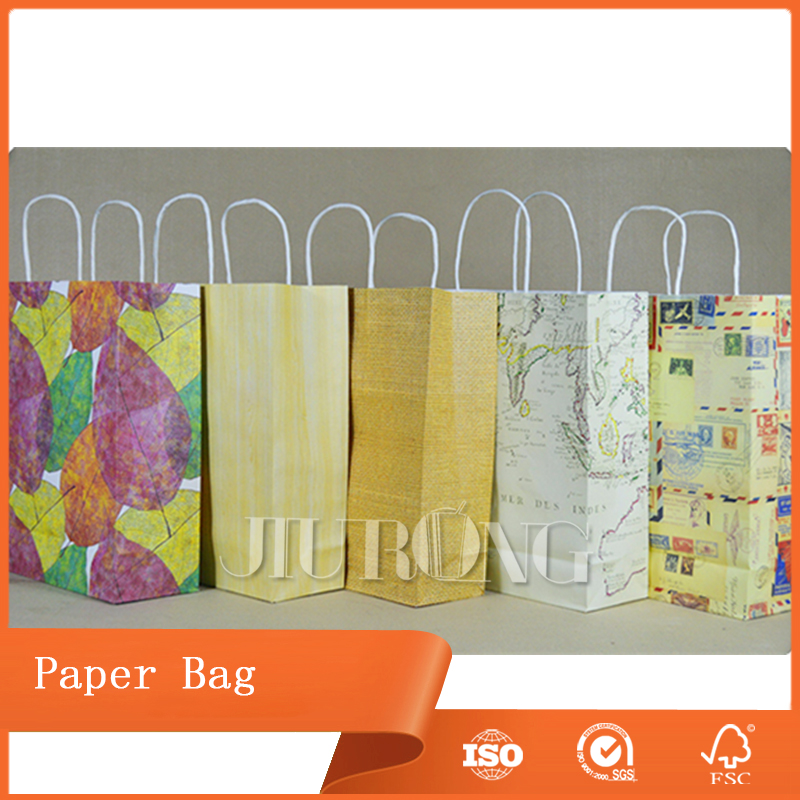 cheap and high quality wholesale shoping recycled brown kraft paper bag with handle