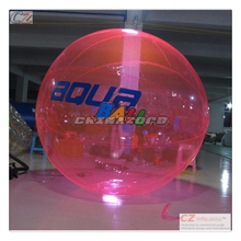 Top quality customized logo PVC/TPU inflatable water walking ball