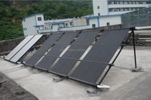 Solar energy collector for pool with vacuum tube heat pipe