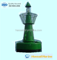 Marine navigation marker buoys with solar light