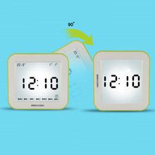 New Coming Luminous Sensor Mini LCD Alarm Clock with All flip function