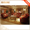 Luxury French Rococo Golden Wood Carving Fabric Sofa Set/ Antique European Royal Gilt Sofa Set Fancy Living Room Furniture