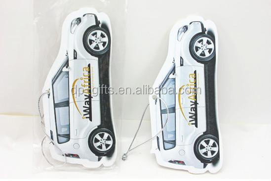 Car paper Shaped Handing Car Freshener for promotion