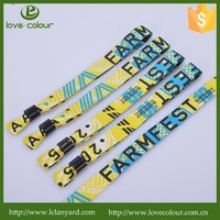 Custom Hot Sale Fabric Textile promotion Event and festival cloth wristband