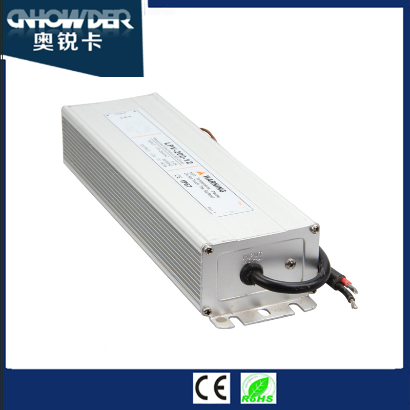 10-40VDC 200W UL CE SGS ROHS Approval Constant Current AC to DC Waterproof LED Power Supply with Factory price