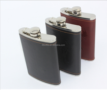 Stainless Steel Liquor Hip Flask,Wine Carrier With Pu Leather Bpa Free