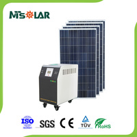 Complete portable solar power system with battery and brackets 300 to 5000W for all family and home solar power system