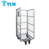 860x725x1770mm Bottom Price Durable ECO Friendly Tote Box Use METAL GREEN Rolling Container Cage for Dishwashing Factory