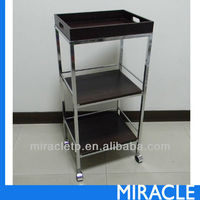 3 Tier Wood Storage Trolley