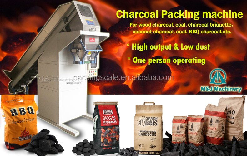 Charcoal Briquette Packing Machine Charcoal Bagging Bagger