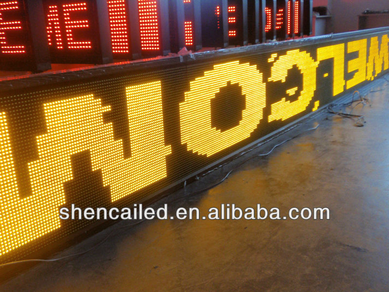 P10 programmable outdoor led digital electric sign board