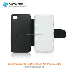 Sublimation Leather Wallet phone case for iPhone4/4S