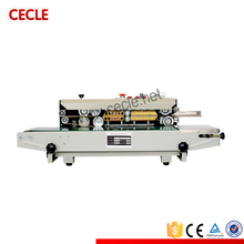 Famous brand fr continuous ss semi-auto and manual plastic foil pouch bag sealing machine