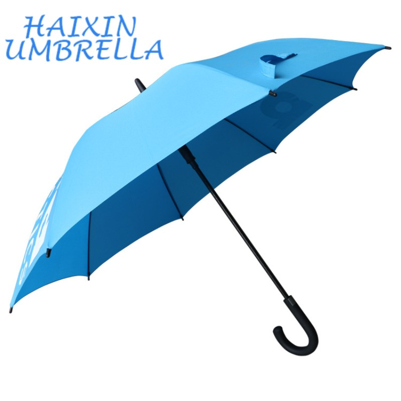 New Product Ideas 2020 <strong>J</strong> Handle Promotional Umbrella with Logo Printing Sombrillas Chinas Baratas Personalizadas Bright Colored
