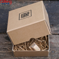 Brown guangzhou factory electronic products Customized bakery packaging mailing box kraft paper box watch gift folding toy box