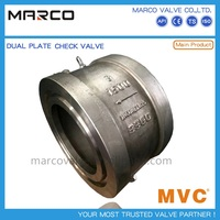 Competitive carbon and stainless steel double plate or disc spring loaded check valve