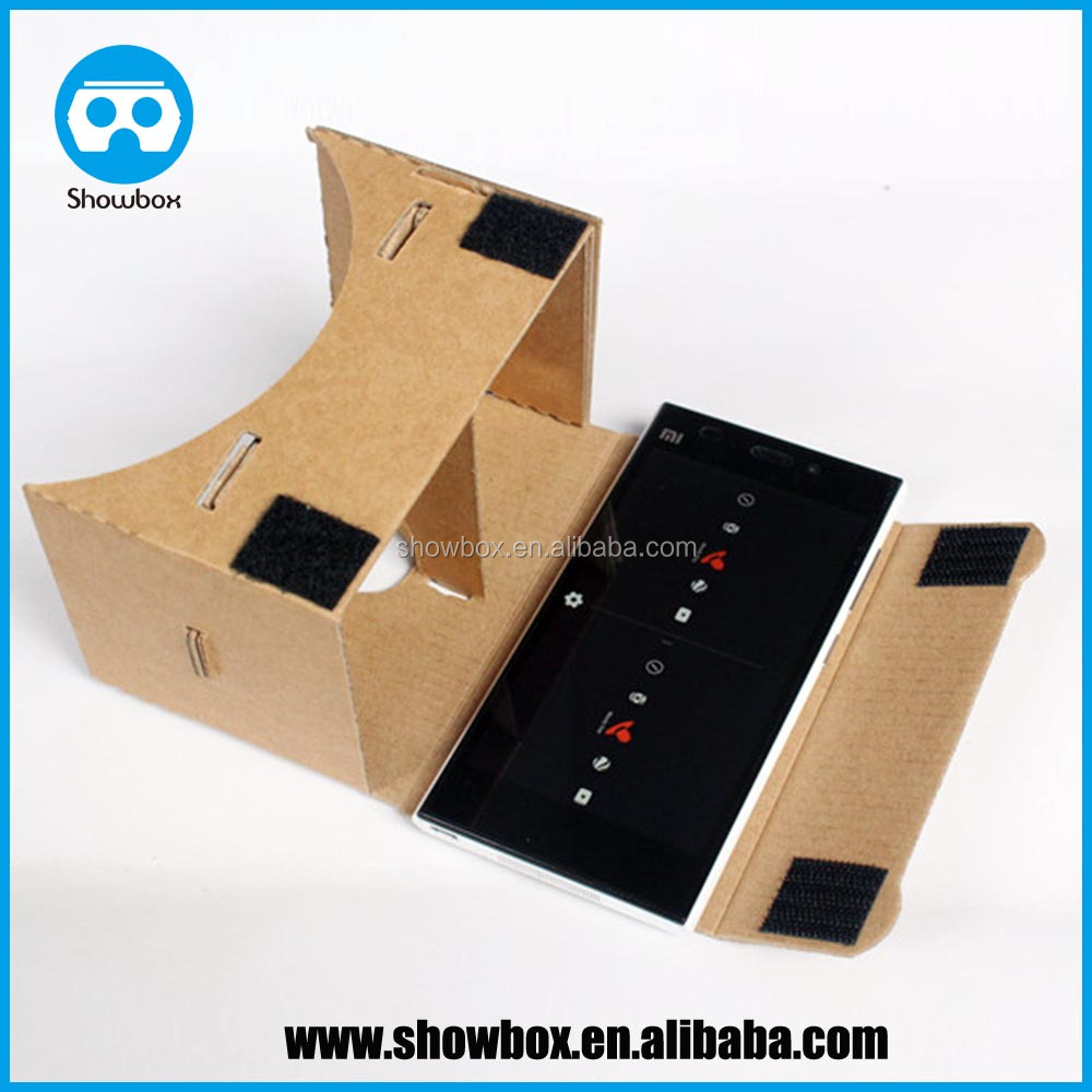 4.7 inch google cardboard v1 professional supplier factory price virtual reality experience google cardboard 1