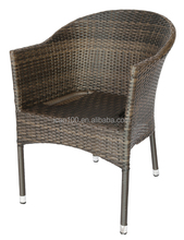 comfortable solid aluminum plastic wicker stacking outdoor patio chair