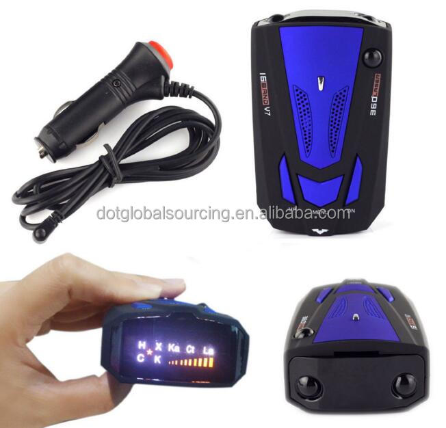Cheap Price 360 Degree Car Auto Voice Alert Laser LED GPS Speed Safety Car Anti Speed Radar Detector