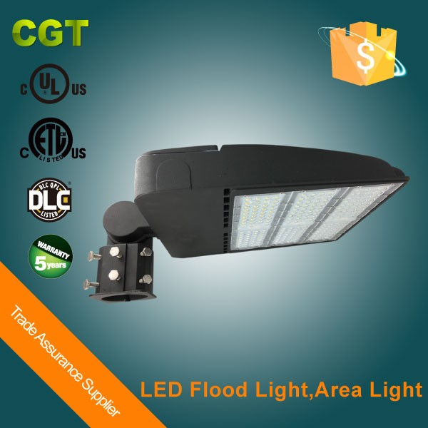 Top Quality DLC Premium listed LED shoebox area flood light stadium led lighting