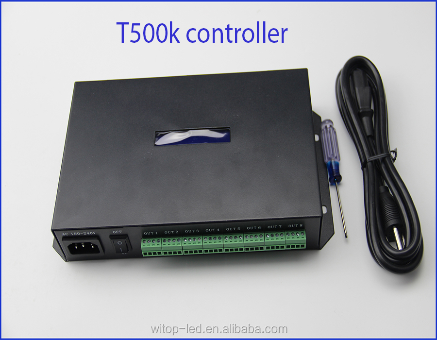 WS2811 WS2812B DMX512 T-500K PC online controller 8 ports output support lededit software 2016