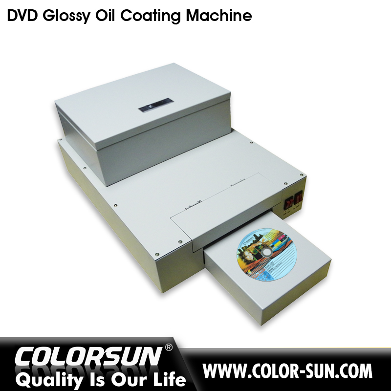 Automatic desktop cd dvd uv coating machine for hot sales whit glossy oil