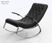Triumph stainless steel rocking chair/ leather leisure chair/office living room chair