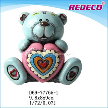 Valentines day souvenirs resin bear figurine