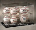 Transparent good quality acrylic baseball display box hold 10 pieces with CE/SGS approved