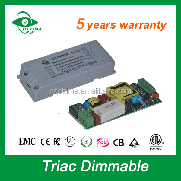 constant voltage dimmable triac 24v 12w 500ma led driver for strip 2835