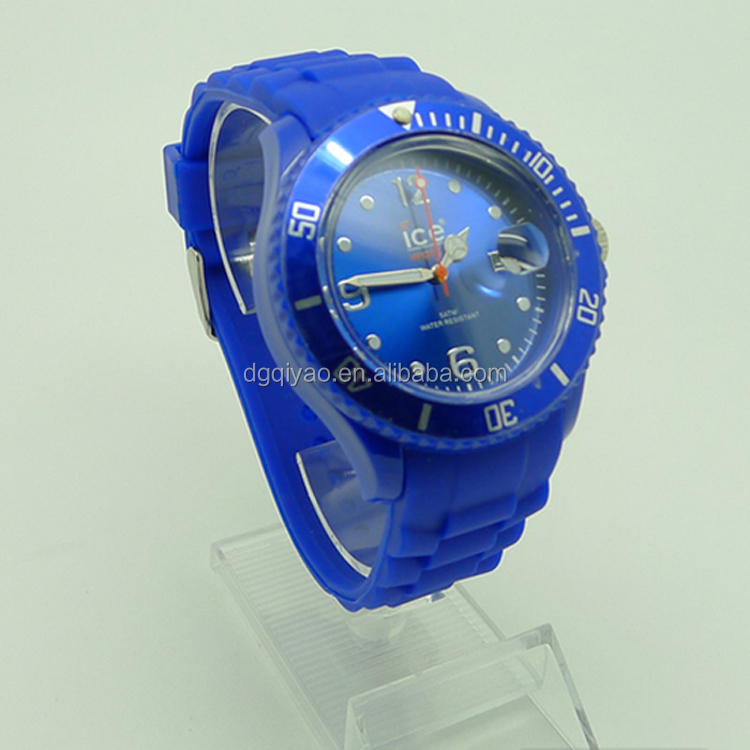 Newly ice stylish fashion silicone Jelly watch, silicone quartz wristband watches