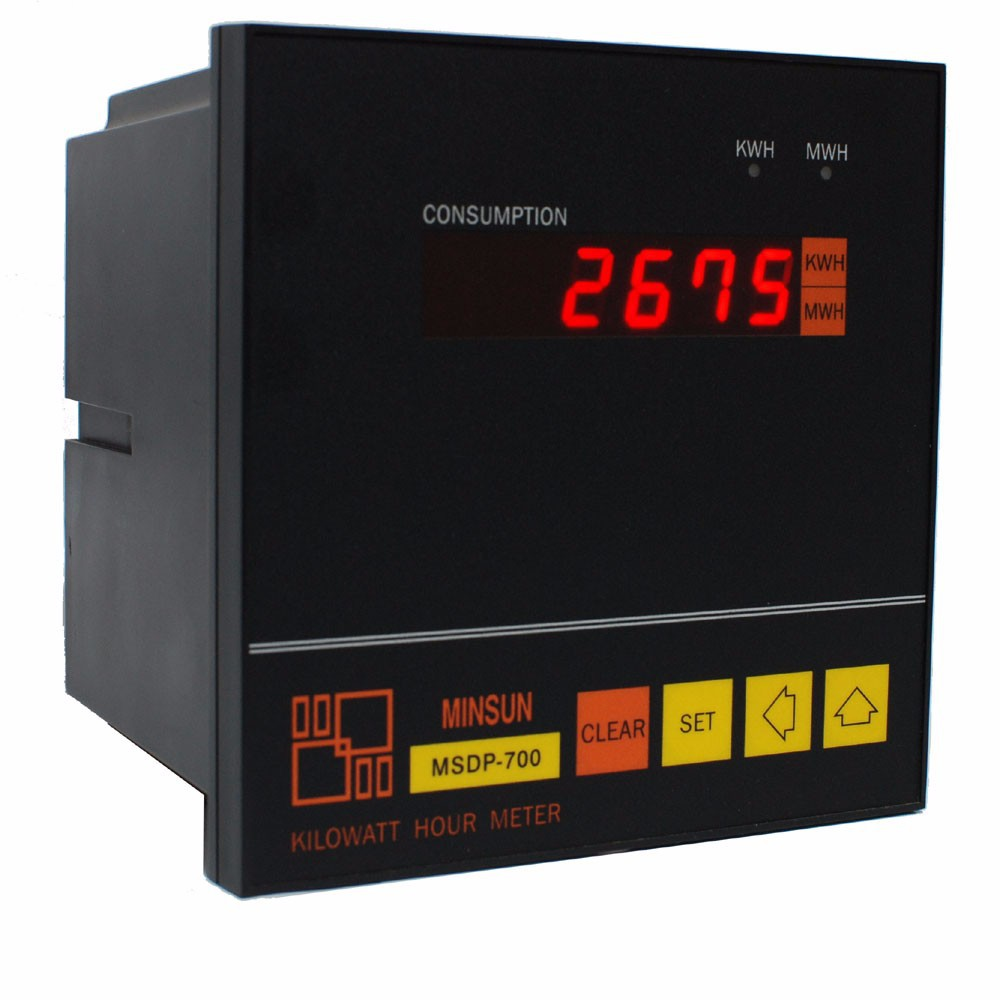 MSDP-700 LED Display Panel Digital KWH Meter with Pulse Output