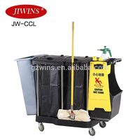 Hospital Cleaning Mop Trolleys Cleaning Trolley Cart Hotel Housekeeping Cleaning Cart