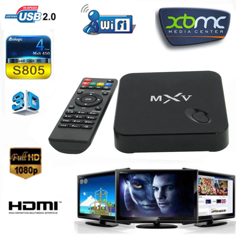 Acemax Amlogic S805 quad core ott tv box Support 2.4GHz wireless mouse and keyboard via 2.4GHz USB dongle
