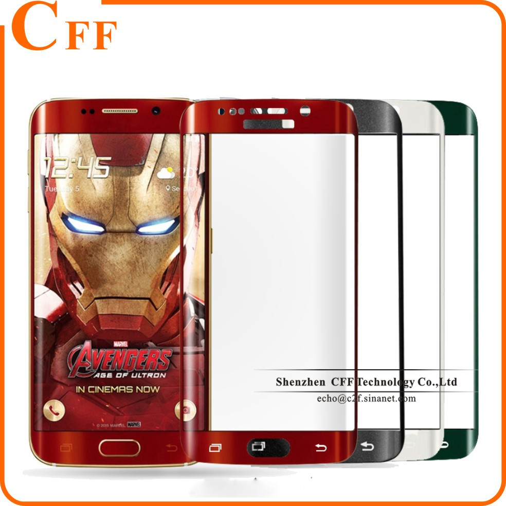 3D Curved Surface Color Full Cover Screen Protector Film For Samsung Galaxy S7 edge Tempered Glass