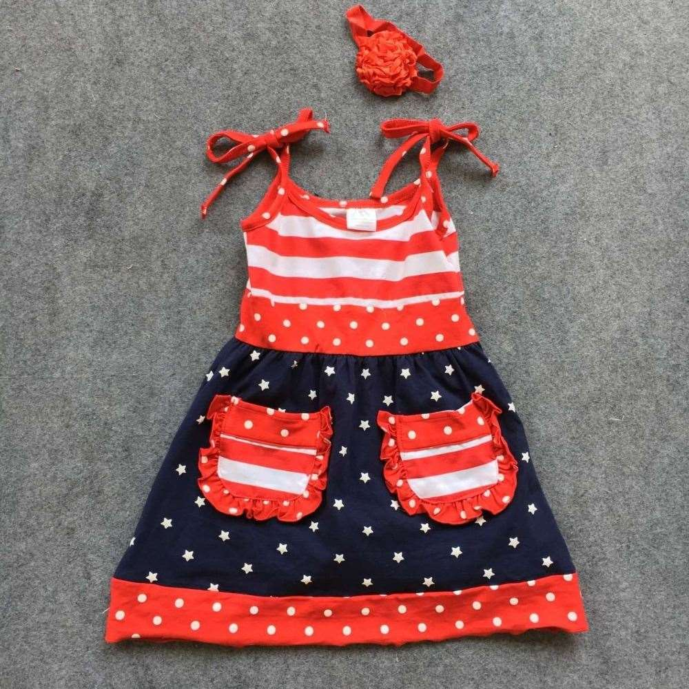 baby girls fourth of july outfits 4th of july dress 2-7t girls July 4th outfit children patriotic dress sets kids clothing sets
