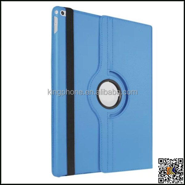 2015 portable pu rotating leather case for ipad pro with dormant function cover