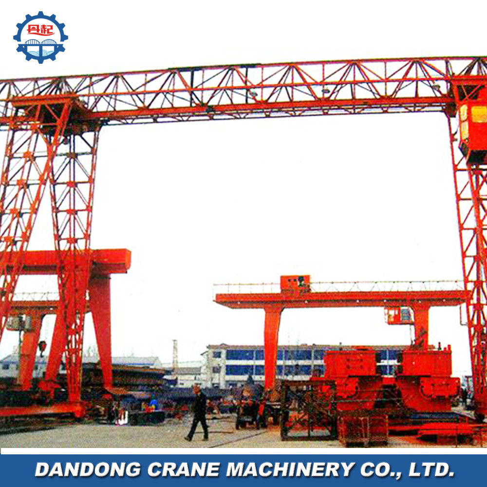 construction sites installed conventional style single beam MH gantry crane 20 ton