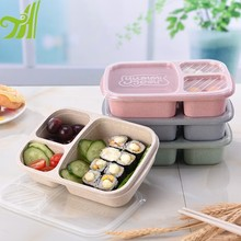Wheat Straw Material Plastic Lunch Box China Factory
