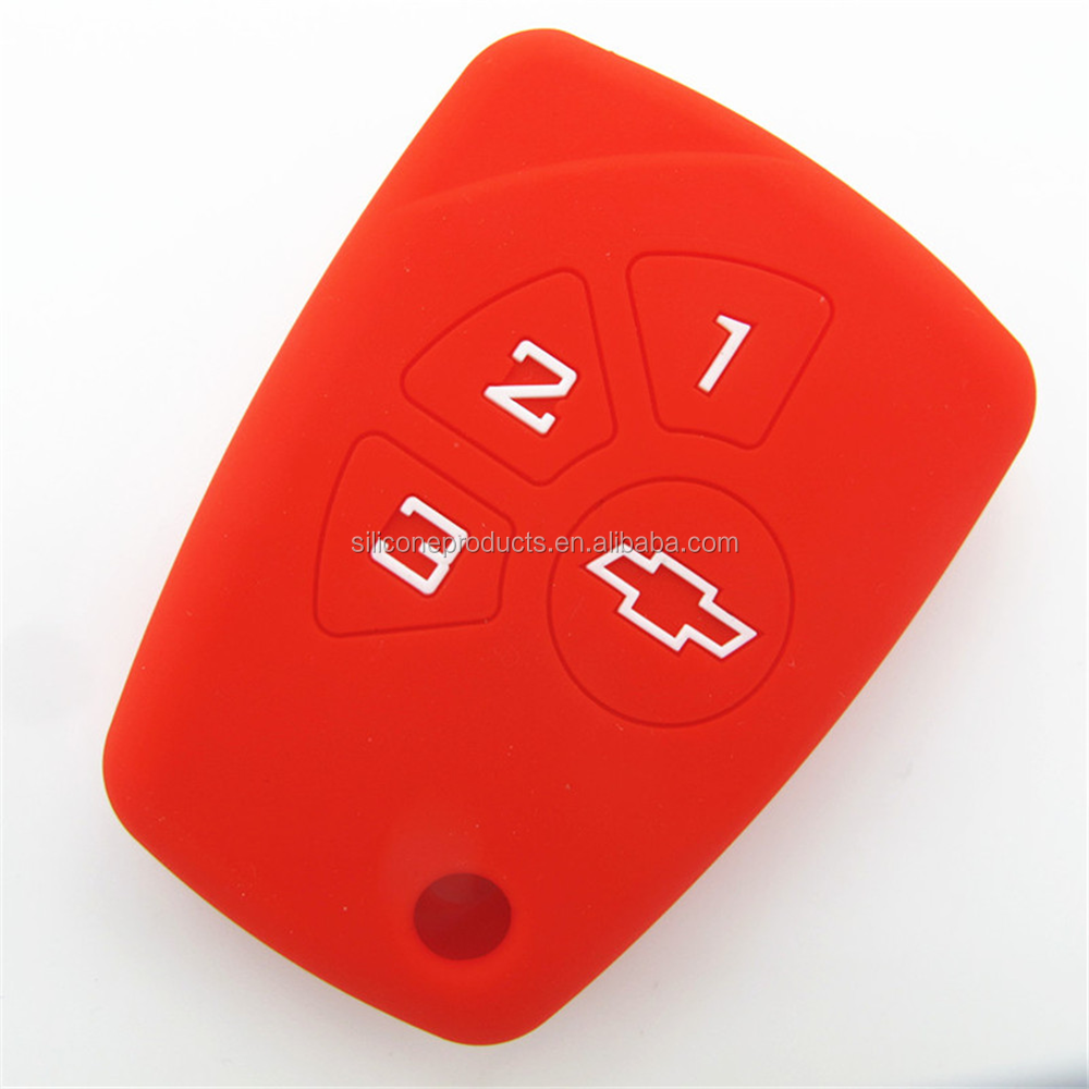Wholesale Car Romote Filp key silicone protecting key case cover for chevrolet, Silicone protective Cover for Chevrolet Key