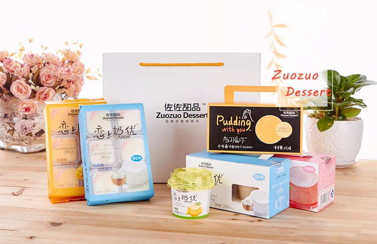 320g box packing gift packing pudding fruit cup jelly