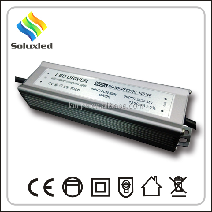 40-50W Waterproof LED Driver With Constant Current
